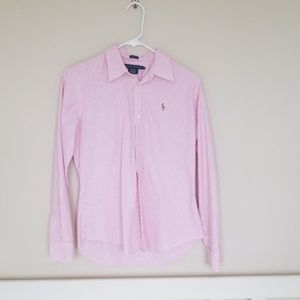 Pink Pinstripe Ralph Lauren Button Up